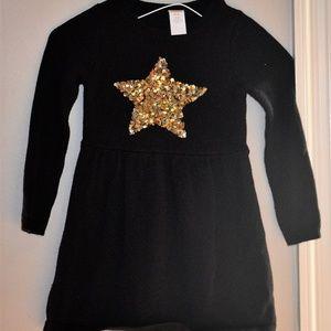 GYMBOREE WINTER STAR Black Sweater Dress sz 4